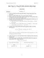 Bài tập lý thuyết điều khiển hiện đại