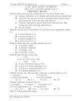 Bài tập Hóa 12 học kỳ 1