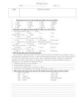 Written test 3 class6