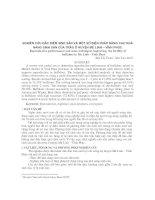 Nghiên cứu đặc điểm sinh sản và một số biện pháp nâng cao khả năng sinh sản của trâu ở huyện Mê Linh – Vĩnh Phúc