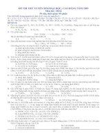 MỘT SỐ ĐỀ THI ĐẠI HỌC 09