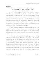 Giáo Trình Hoá Học Dầu Mỏ và Khí - chương 1 THÀNH PHẦN DẦU MỎ VÀ KHÍ