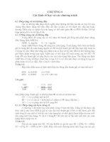 LÝ THUYẾT lập TRÌNH cơ bản CHƯƠNG 6