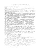 Bài tập chương nguyên tử và BTH