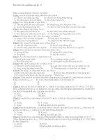 Bộ đề thi trắc nghiệm môn vật lý lớp 12