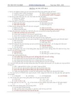650 câu trắc nghiệm sinh học lớp 12
