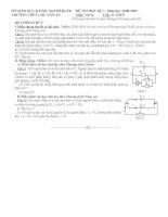 đề thi Vật lí 11 Kì I có kèm đáp áp+varem điểm