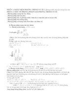 Hệ thống phương pháp giải phương trình vô tỉ