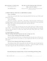 ĐỀ THI TUYỂN SINH ĐẠI HỌC NĂM 2013 MÔN LỊCH SỬ KHỐI C, CÓ ĐÁP ÁN