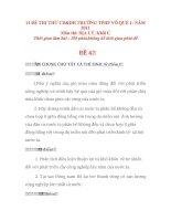 14 ĐỀ THI THỬ CD&DH TRƯỜNG TPHP VÕ QUẾ 1- NĂM 2011 Môn thi: ĐỊA LÝ, Khối C
