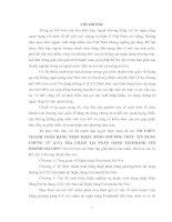 """TỔ CHỨC THANH TOÁN HÀNG NHẬP KHẨU BẰNG PHƢƠNG THỨC TÍN DỤNG CHỨNG TỪ (L/C) TRẢ CHẬM TẠI NGÂN HÀNG EXIMBANK CHI NHÁNH SÀI GÒN"""""""