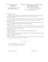 ĐỀ THI CHỌN HỌC SINH GIỎI TỈNH CẤP THPT NĂM HỌC 2012-2013 MÔN LỊCH SỬ LỚP 10 - SỞ GIÁO DỤC VÀ ĐÀO TẠO HÀ TĨNH