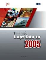 Tìm hiểu luật đầu tư 2005 của việt nam