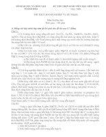 Đề thi chọn giáo viên giỏi THCS Tỉnh Thanh Hóa năm học 08 - 09