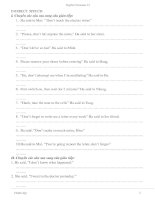 bài tập (reported speech)