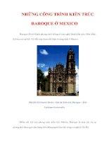 NHỮNG CÔNG TRÌNH KIẾN TRÚC BAROQUE ở MEXICO