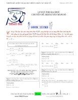 33 dạng toán khảo sát hàm số luyện thi đại học 2011
