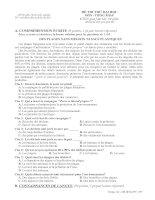 ĐỀ THI THỬ ĐẠI HỌC CAO ĐẲNG MÔN TIẾNG PHÁP ĐỀ SỐ 6