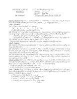 ĐỀ THI THỬ KỲ THI HỌC SINH GIỎI LỚP 9 CẤP TỈNH MÔN HÓA HỌC - SỞ GIÁO DỤC VÀ ĐÀO TẠO LONG AN