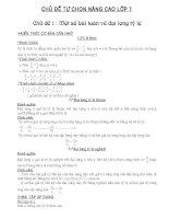 Tự chọn toán 7(Đại Số)