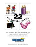 22 FUN activities for kids   22 hoạt động vui nhộn dành cho trẻ