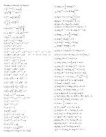 PT mũ và logarit cơ bản