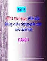 Bài 18 - Minh họa - Diễn biến kháng chiến chống quân xâm lược Nam Hán (Dạng 1)