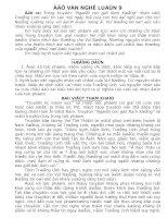 MỘT SỐ BÀI VĂN THI VÀO LỚP 10 PTTH