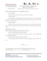 KỲ THI THỬ ĐẠI HỌC NĂM 2012- 2013 Môn thi: LỊCH SỬ; Khối: C