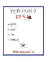 LẬP TRÌNH WEB ĐỘNG với PHP  MySQL   phần 2