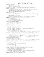 11 bài ôn tập học kì 2 lớp 7