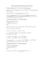 Một số dạng phương trình lượng giác cơ bản