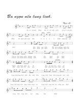 Bài hát ba ngọn nến lung linh - Ngọc Lễ (lời bài hát có nốt)