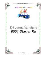 Đề cương bài giảng 8051 starter  kit