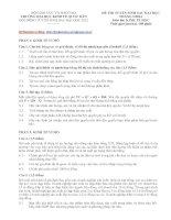 ĐỀ THI TUYỂN SINH SAU ĐẠI HỌC THÁNG 5/2012 MÔN KINH TẾ HỌC TRƯỜNG ĐẠI HỌC KINH TẾ QUỐC DÂN