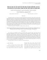 ĐÁNH GIÁ HIỆU QUẢ CAN THIỆP ĐẾN TÌNH HÌNH SỬ DỤNG PHẨM MÀU, HÀN THE, ACID BENZOIC VÀ ACID SORBIC TRONG CHẾ BIẾN THỰC PHẨM TẠI QUẢNG BÌNH