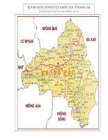 Bản đồ hành chính huyện krông pắc