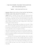Đáp án bài dự thi tìm hiểu 80 năm Công đoàn Việt Nam