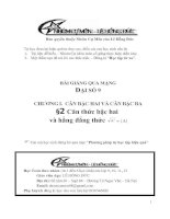Bài giảng: Căn bậc hai và hằng đẳng thức (Đại số 9)