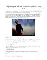 13 phát ngôn bất hủ của steven jobs