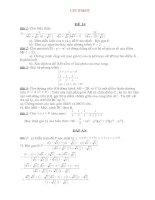 Bộ đề & ĐA ôn thi vào lớp 10 THPT môn Toán Đề số 14
