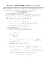 Bài toán tìm cực trị hàm số