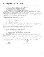 Bài tập trắc nghiệm vật lý 9 phần điện học