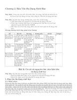 Bài giảng bảo tồn đa dạng sinh học - Chương 2