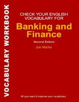 Check your vocabulary for banking and finance
