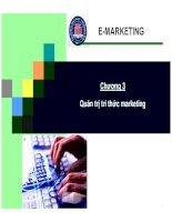 Bài giảng thương mại điện tử quản trị tri thức marketing