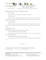 ĐỀ THI THỬ ĐẠI HỌC NĂM 2012- 2013 Môn LỊCH SỬ Khối C