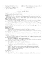 Đề tham khảo ôn thi TN12 Ngữ Văn (2)