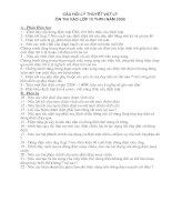 CÂU HỎI ÔN LÝ 9 VÀO LỚP 10