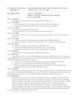 Đề thi chuyên LÊ QUÍ ĐÔN môn Sinh học 9 -2009